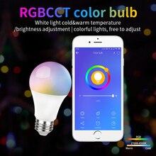 10W E27 Smart Wifi LED Bulb Smart home 806LM E27 RGB+CCT 220-240V Smart Bulb Home Automation Compatible with Alexa Google Home