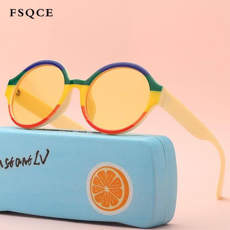 FSQCE 2020 Classic Sunglasses Girls Boys Colorful Sun Glasses Retro Sunglasses Newest Cat Eye Sunglasses Oculos UV400
