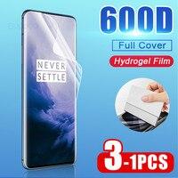 Protector de pantalla de borde curvado 600D para Oneplus 7 8 Pro 5 6T 6 5T Pro, película de hidrogel para One plus 7T, película protectora completa, no cristal