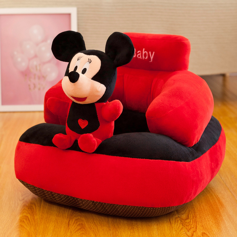Cartoon Baby Learn To Sit  Children The Small Sofa Infant Safety  Seat  Drop  Lazyback Kids Chair  Mickey Mouse Chair For Kid