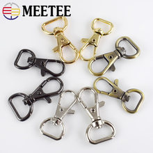 10/30pcs Meetee 13/16mm Bags Strap Buckles Metal Lobster Clasp for Handbag Keychain Swivel Trigger Clips Snap Hook DIY Accessory