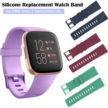 Duszake Band For Fitbit Versa/ Versa Lite/ Versa 2 Silicone Adjustable Replacement Classic Fitness Strap For Fitbit Versa 2 Band фото