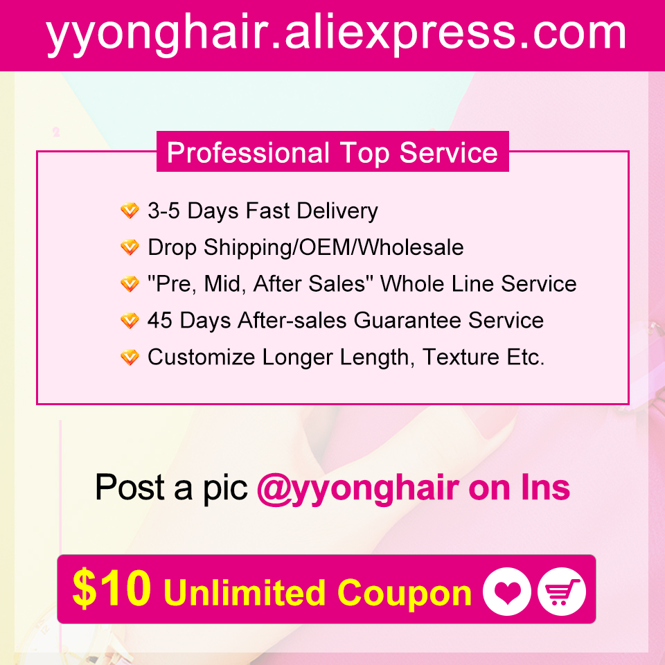 Yyong  Straight Hair 4/ 3 Bundles   With 4*4 Lace Closure Double Weft  Bundles With Closure 6