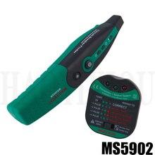 MASTECH MS5902 110 В/220 В американская Спецификация автоматический выключатель Finder розетка тестер W/аналоговый приемник и фонарик