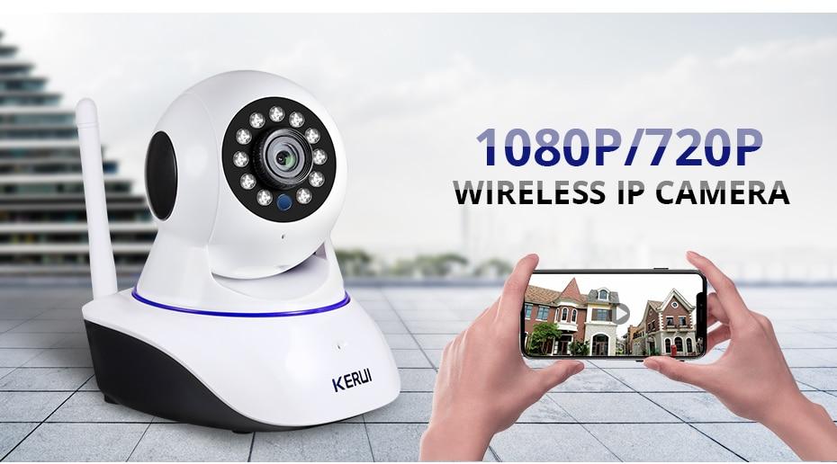 H6869326ba3644dc6aee7dfeb92e3ff4cM KERUI 720P 1080P HD Wifi Wireless Home Security IP Camera Security Network CCTV Surveillance Camera IR Night Vision Baby Monitor
