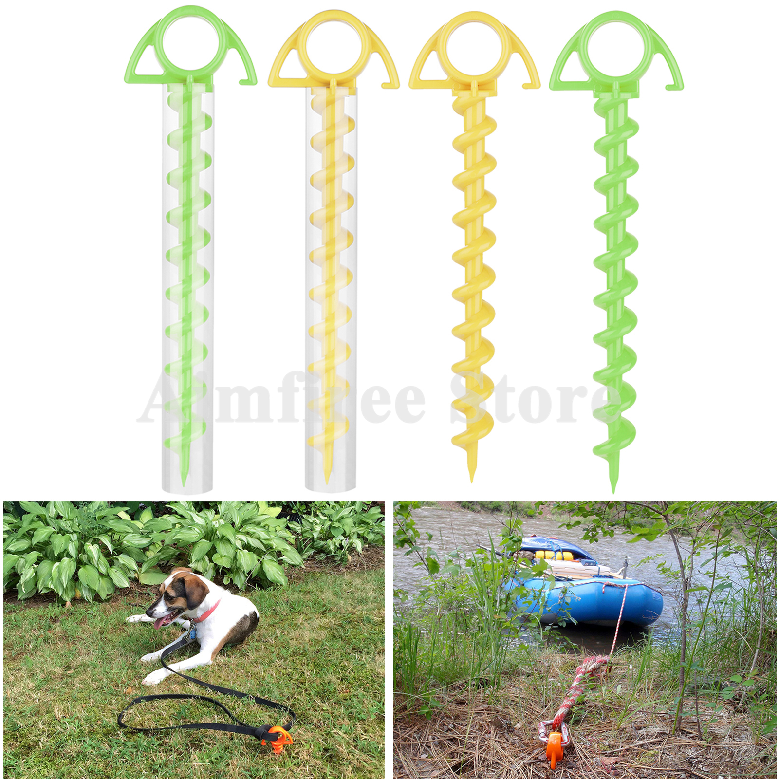 Green/Yellow Ultimate Ground Anchor Multi-purpose Tent Camping Nail Pet Strap Nail