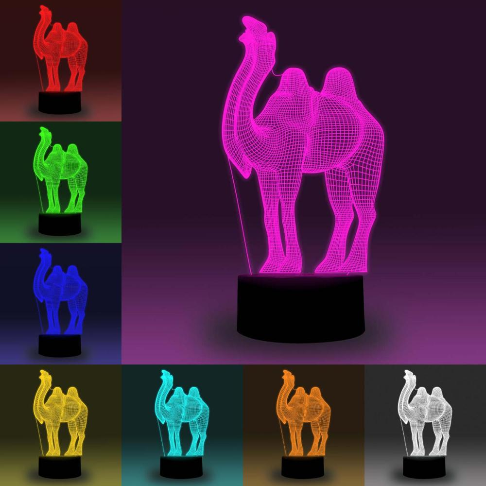 NiteApps 3D Camel LED Night Light Desk Table Illusion Lamp Holiday Birthday Gift APP/Touch Control