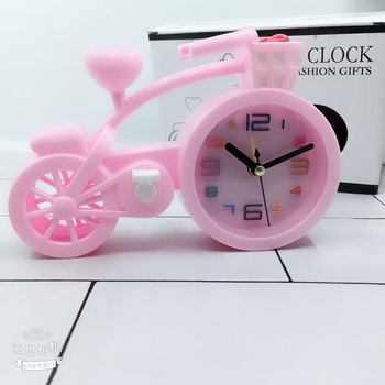 Alarm Clock Candy Color Creative Cartoon Bicycle Clock Student Desktop Plastic Placement Children Gifts Living Room Decoration galo 200kgs engine motor system automatic door ac220v ac110v swing gate driver actuator perfect suit gates opener