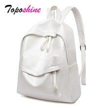 Zaini di grande capacità Toposhine per donna borsa da scuola per ragazze Vintage borsa da viaggio per donna borse a tracolla rosa bianche zaini femminili