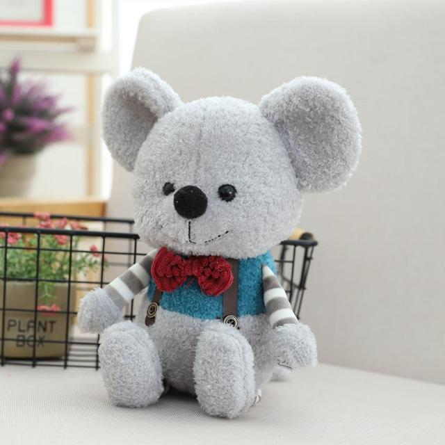 INS Hot Toys Cute Gentle Mouse Doll Lovely Stuffed Toys Birthday Gifts for Children Plush Toys Soft Sofa Cushion Pillow