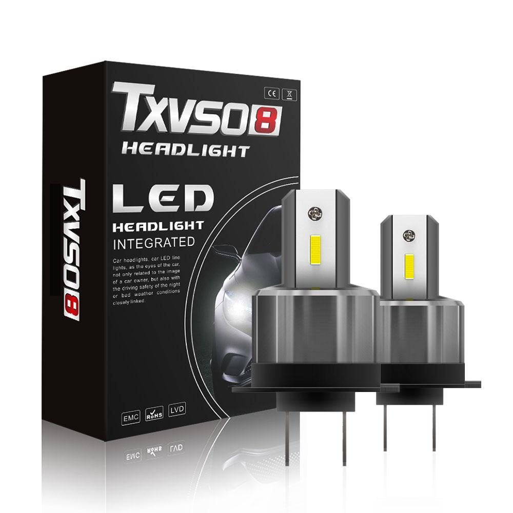 TXVSO8 фокус Супер яркий H7 Автомобильный светодиодный светильник лампы 2020 12V 6000K головной светильник 36 Вт/лампа с CSP 7200LM Luces Led Para авто для Ford