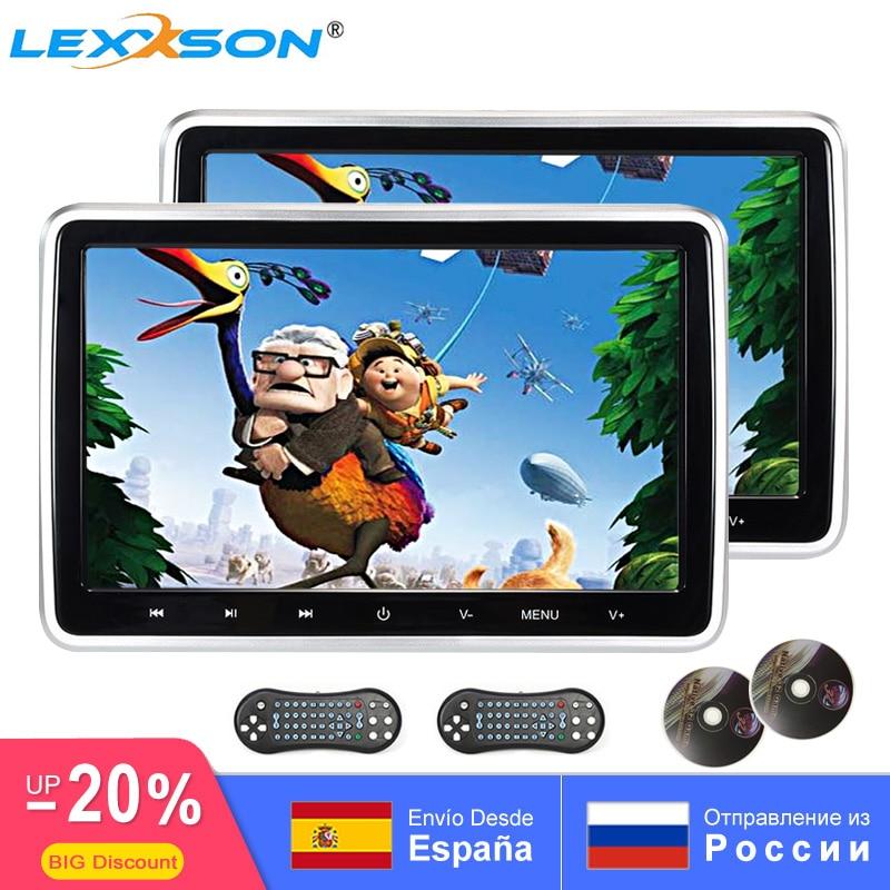 Автомобильный монитор на подголовник 10,1 дюйма, DVD-видео плеер, USB/SD/HDMI/IR/FM TFT ЖК-экран 1024x600, сенсорная кнопка, игровой пульт дистанционного упр...