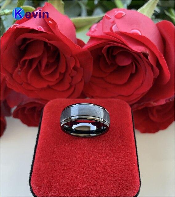 обручальное кольцо для мужчин и женщин ширина 8 мм с полированным фотография