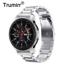 Unieke Rvs Horlogeband + Geen Kloof Clips Voor Samsung Galaxy Horloge 46Mm SM R800 Hand Detach Band Quick Release riem Riem