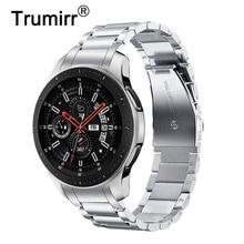 Unique Stainless Steel Watchband + No Gap Clips for Samsung Galaxy Watch 46mm SM-R800 Hand Detach Band Quick release Strap Belt