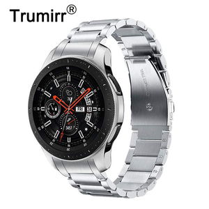 Image 1 - Unique Stainless Steel Watchband + No Gap Clips for Samsung Galaxy Watch 46mm SM R800 Hand Detach Band Quick release Strap Belt