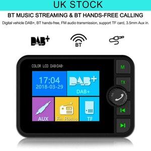 Image 1 - Mini DAB dijital radyo alıcısı Bluetooth MP3 müzik çalar FM verici adaptörü için renkli LCD ekran araba aksesuarları