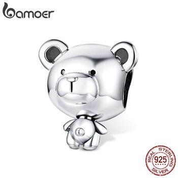 Cuentas de juguete de oso bamoer para mujer, fabricación de joyería de plata de ley 925, amuleto de joyería DIY de moda para Pulsera Original 2020 SCC1502