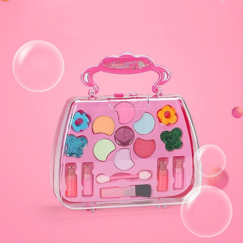 Fashion Kids Girls Makeup Sets Safety Real High Quality Cosmetics Make Up Princess Toys Beauty Sets Birthday Gift 2 Kinds