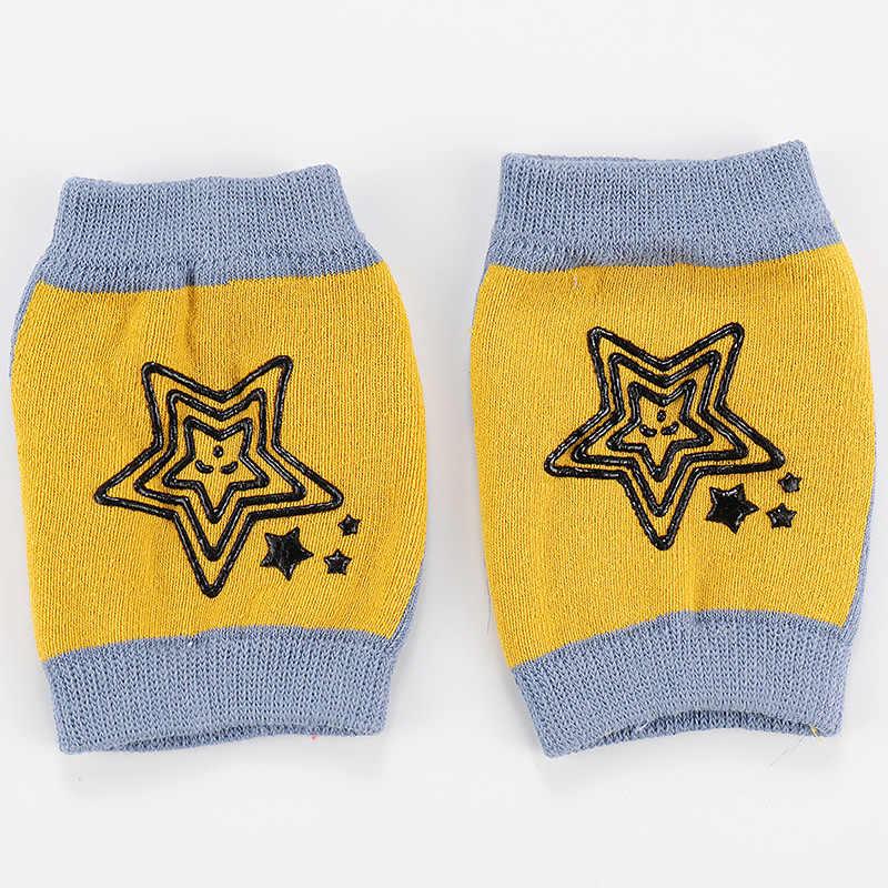 1 paar Nieuwe Waggel Baby Kniebeschermers Kruipen Anti-slip Veiligheid Elleboog Kussen Ster Kinderen Beenwarmers Kids Knieschijf ondersteuning Protector