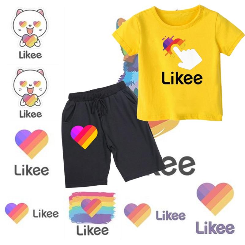 Купить likee 2pcs/set summer kid girls boys clothing sets children