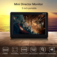 KSOPUERT 5 inch DSLR Camera Monitor Small HD Focus Video Assist Field Monitor LCD IPS Full HD 800x480 HDMI Input Output