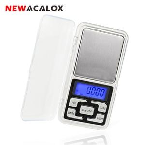 Image 1 - NEWACALOX 200g x 0,01g Mini Präzision Digitale Waage für Gold Bijoux Sterling Silber Skala Schmuck 0,01 Gewicht Elektronische waagen