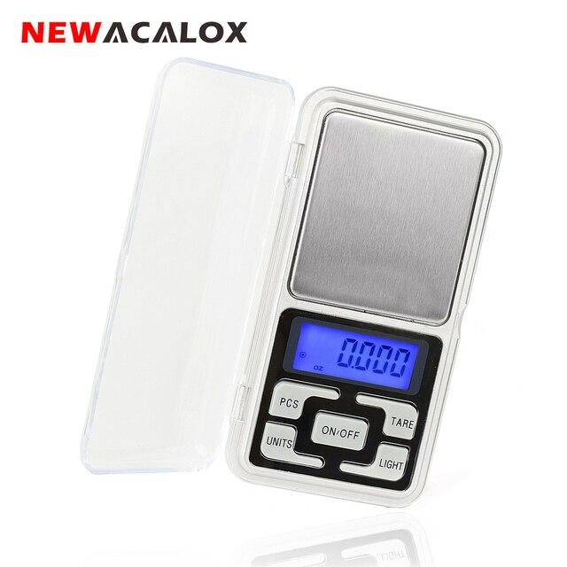 NEWACALOX 200g x 0,01g Mini Präzision Digitale Waage für Gold Bijoux Sterling Silber Skala Schmuck 0,01 Gewicht Elektronische waagen
