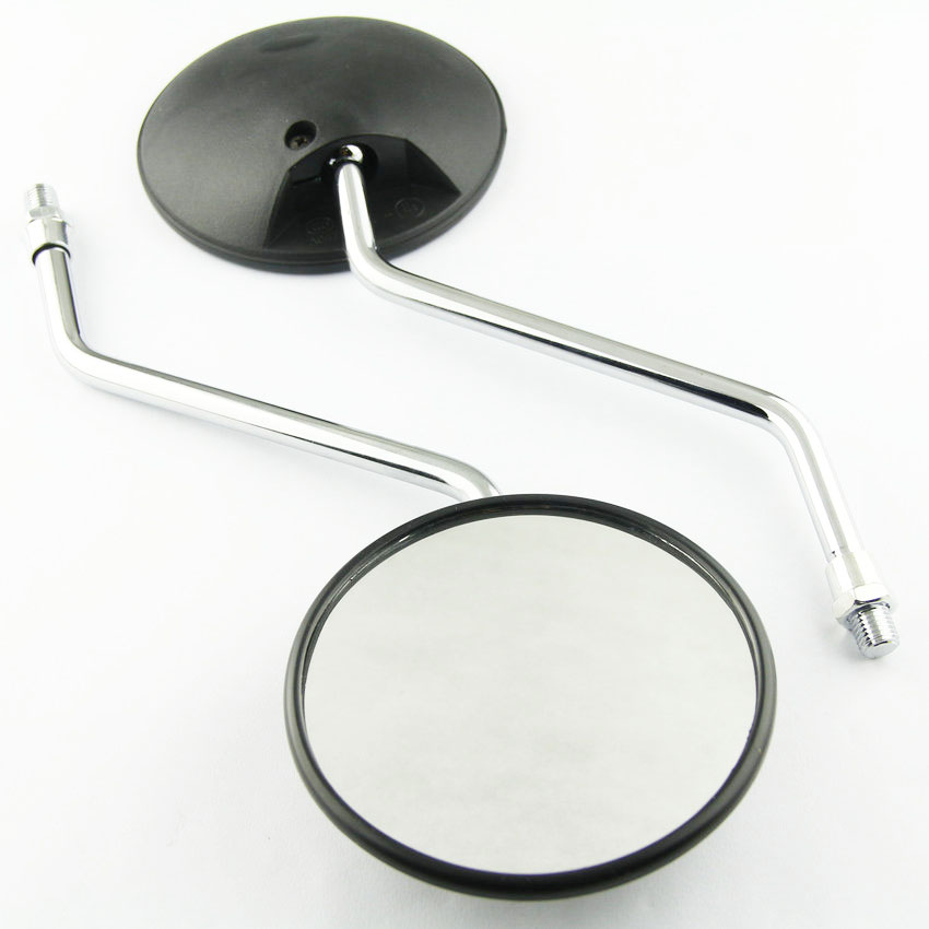 1 pair Motorcycle round mirror for <font><b>Honda</b></font> XL175 XL185 XL200 XL250 <font><b>XL350</b></font> XL500 XR75 XR80 XR100 XR125 XR185 10mm side mirror image