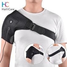 熱治療ショルダーブレース調節可能なショルダー加熱パッド肩滑液包炎腱炎ひずみホットコールドサポートラップ