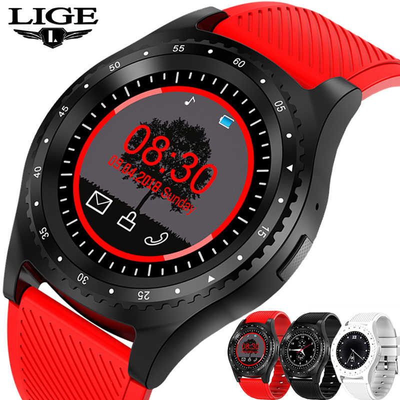 LIGE 2019 New Smart watch Women Sport watch Color LED Touch Screen  Smartwatch Support SIM TF card For Android Fitness Watches
