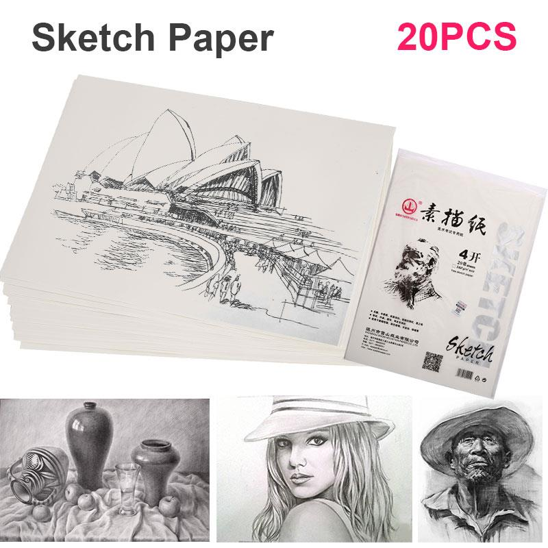 Sketch Book Durable Professional 4K 160g Wood Color Artist Lettering Drawing Paper 20pcs/Bags Designer Drafting Sketch Paper