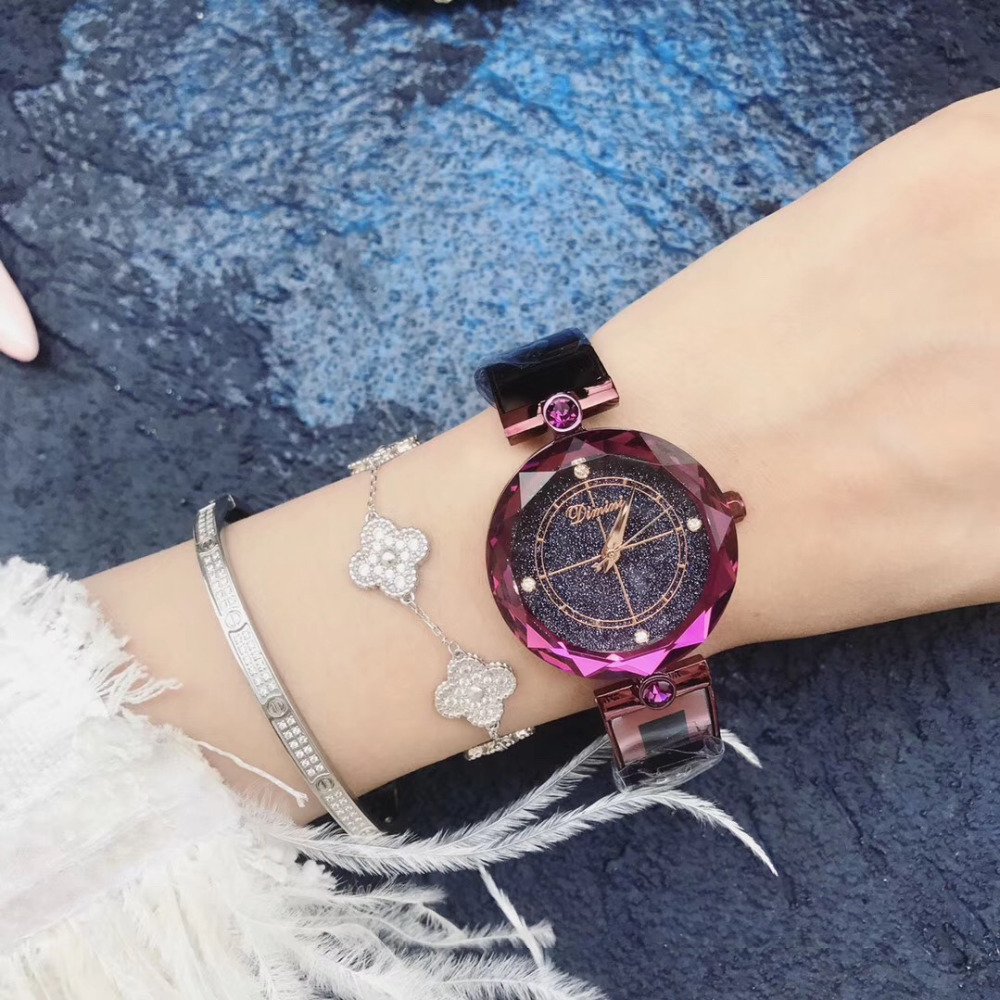 Women Watch DIMINI Brand Luxury Quartz Watch Steel Band Wristwatch Fashion Ladies Watch Casual Female Clock Relojes Para Mujer