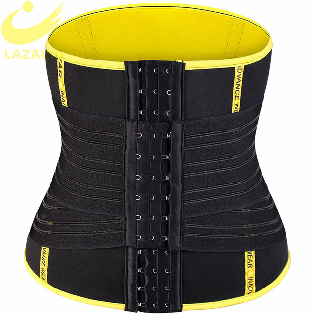 LAZAWG Hot Sweat Neoprene Belt Sauna Sweat Strap Waist Trainer Belt Tummy Control Cincher Body Shaper Slim Shapewear Workout Top