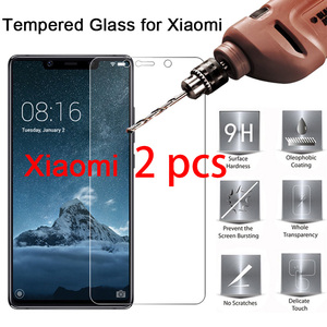 2pcs 9H Screen Protector for Xiaomi Mi A2 Lite A1 4S 4C 4i 3 2 HD Hard Protective Glass Tempered Glass For Xiomi mi Pocophone F1(China)