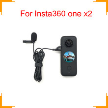 Микрофон Insta360 one x2, Официальный микрофон, аудио, нет необходимости, микрофонный адаптер, ручная Спортивная камера, аксессуары, Hi-Fi, шумоподав...