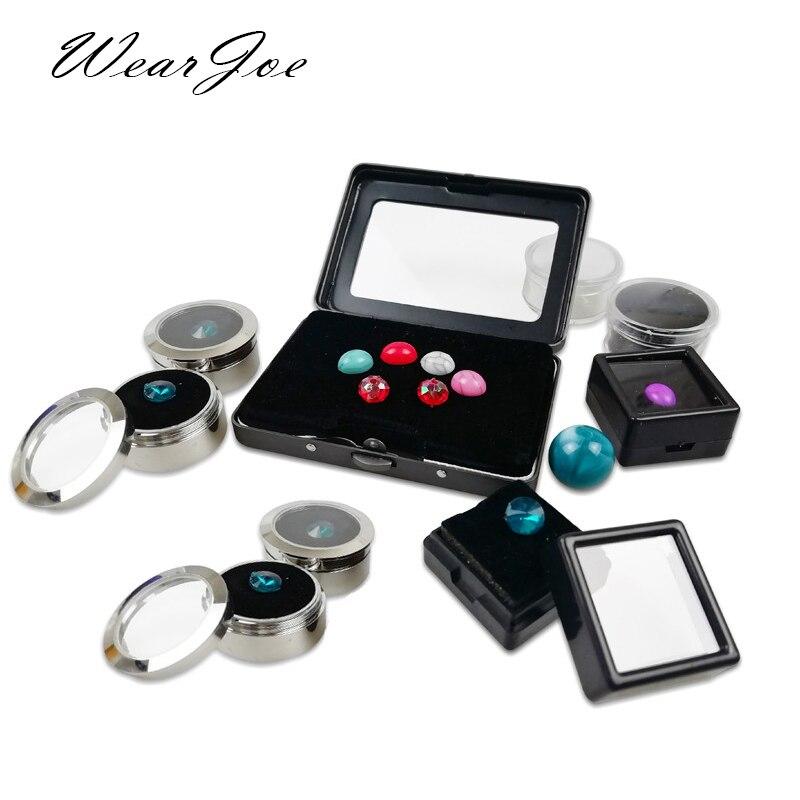 Wholesale Lot Gem Display Box Storage Loose Diamond Stand Jewelry Beads Pearl Gemstones Packaging Organizer Jar Foam Insert Case