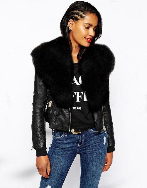Фото женская мотоциклетная куртка из искусственной кожи черная толстовка цена