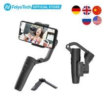 Feiyutech oficial vlog bolso 3 eixos handheld cardan smartpho estabilizador selfie vara para iphone 12,11, x, samsung s20, xiaomi