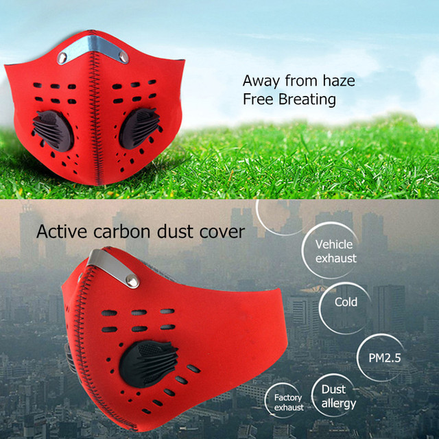 10Pcs Face Mask Half Air Pollution Filter Sport Cycling Bicycle Bike In Stock Fast shipping 1