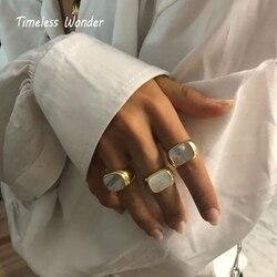 Неустаревающие Потрясающие титановые массивные кольца из нержавеющей стали, ювелирные изделия для женщин в стиле панк, готический стиль Boho...