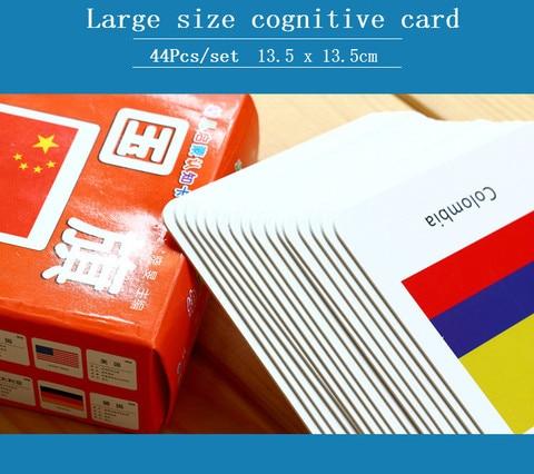 cognitivo bandeira nacional 3d cartoes montessori materiais ingles jogos adultos criancas