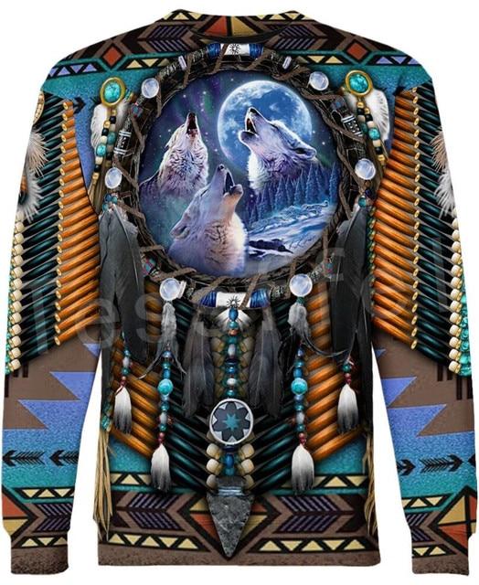Tessffel Indian Native culture Harajuku Casual Colorful Tracksuit New Fashion Funny 3DPrint Unisex Sweatshirts Mens Womens s-4 4