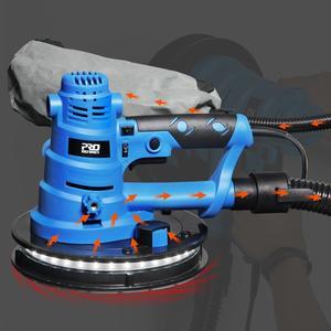 Image 3 - Trockenbau Sander Wand Polieren Maschine Schleifen 230V 750W Tragbare Led Licht 610 2150/min Wand Kitt polierer Maschine PROSTORMER