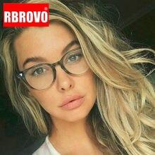 RBROVO De montura De gafas redondas para las mujeres gafas Vintage De las mujeres De la marca De gafas De lujo De las mujeres De Lentes De Lectura Mujer