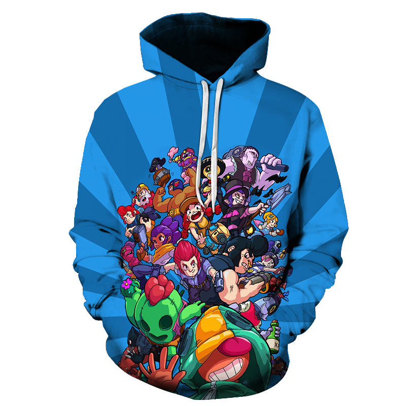 New Spring Autumn Fashion Brawle Stares Game Wilderness Fight Star Series Anime Hoodie 3D Print Sweatshirt Cool Man Game Hoodie
