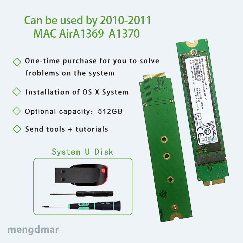 Nuevo 512GB SSD 2010 2011 Macbook Aire A1369 A1370 De Disco De Estado Sólido MC503 MC504 MC505 MC 506 MC965 MC966 MC968 MC969 Disco Duro