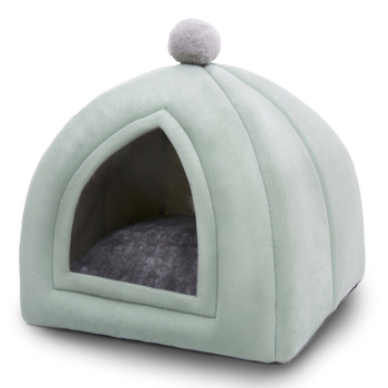 Winter Warm Pet Cat Bed House Soft Foldable Non-slip Bottom   4