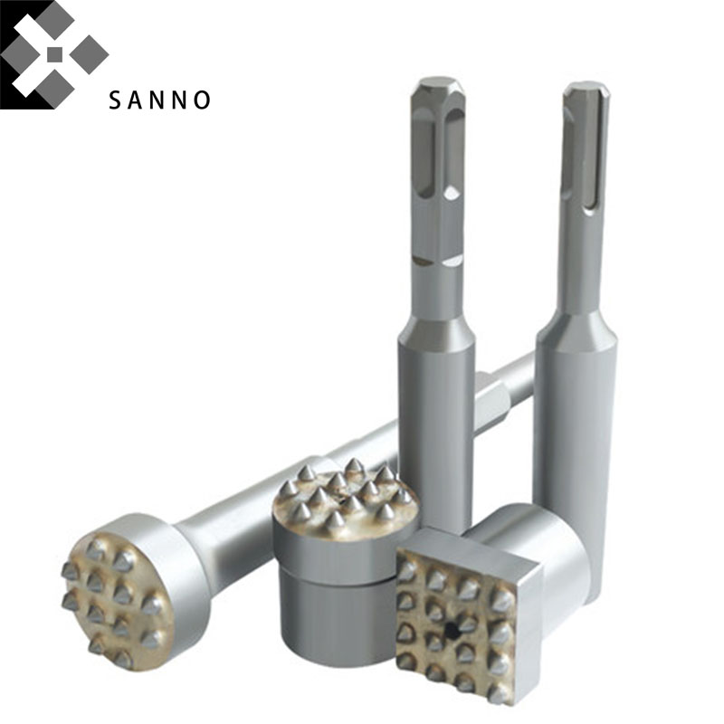 Electric Drill Bit Square Punch Drilling Bits Rock Bit Chipping Drills Tapered Button Chisel Drill Bits For Stone, Concrete
