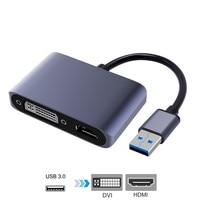 USB 3.0 Adapter zu HDMI DVI Dual Displayport USB Konverter unterstützung HDMI DVI Sync Ausgang 1080P für Windows 10/8 /7 USB Adapter